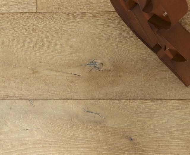 Oban Oak Brushed Pearl Grey Stained Dual-Width Engineered Hardwood Flooring