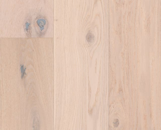 Haarlem White Rustic Brushed Oiled Oak Dual-Width Engineered Hardwood Flooring