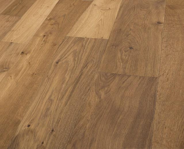 Valkenburg Smoked Natural Rustic Brushed Oiled Oak Dual-Width Engineered Hardwood Flooring