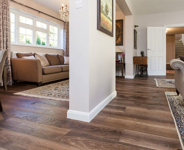 Tanner Brown Oak Distressed & UV Oiled Oak Engineered Wood Flooring