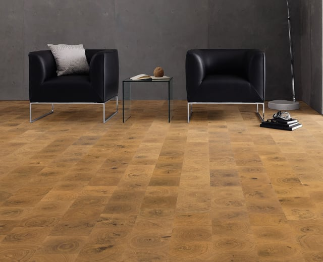 Natural Oak End Grain Lacquered Engineered Hardwood Flooring