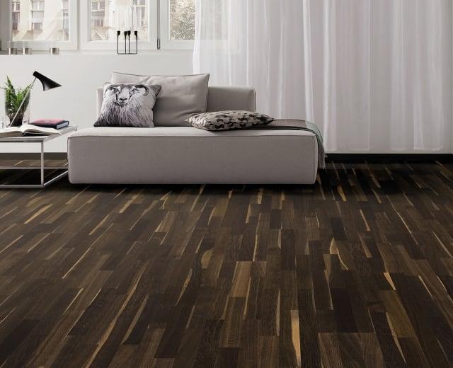 3 Strip African Oak Lacquered Engineered Hardwood Flooring