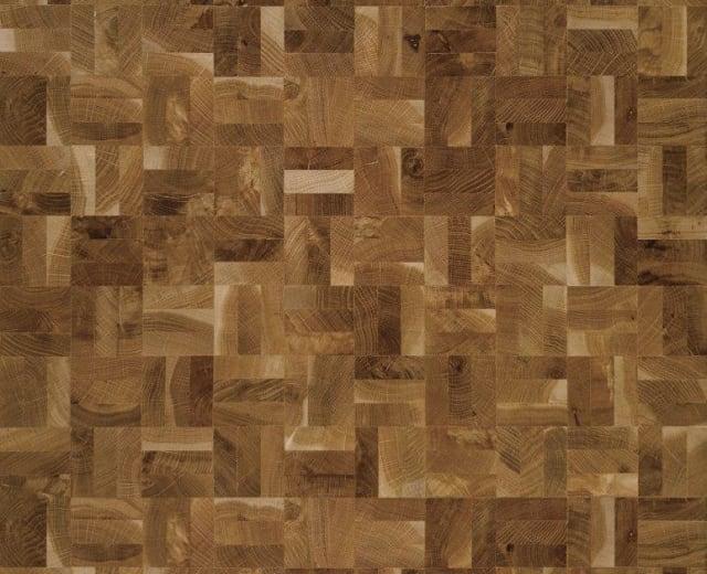 End Grain Oak Rustic 3 Block Mosaic Parquet Flooring