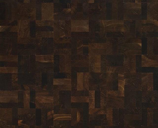 End Grain Oak Nature Fumed 3 Block Mosaic Parquet Flooring