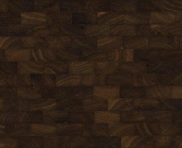 Oak End Grain Fumed Natural Block Parquet Flooring