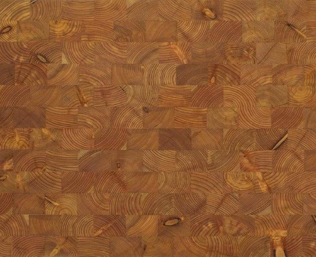 Larch End Grain Natural Block Parquet Flooring