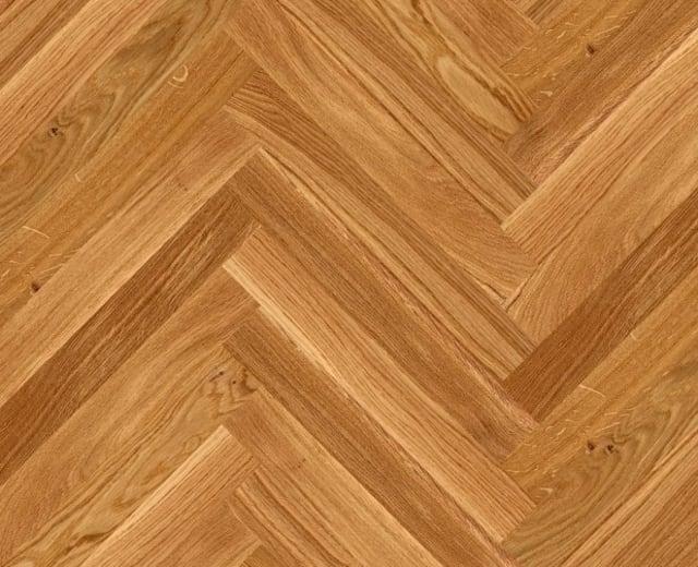 Oak Herringbone Parquet Lacquered Hardwood Floor
