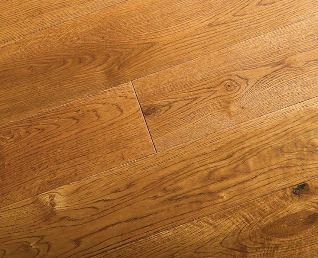 Golden Oak Brushed UV Oiled Engineered Hardwood Flooring