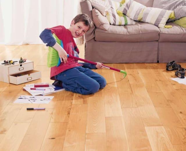 Oak 125mm Lacquered Engineered Hardwood Flooring