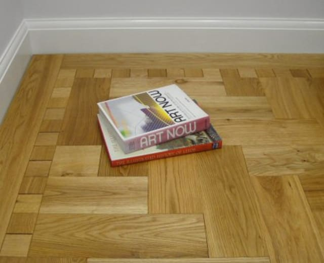 Natural Oak 230mm Herringbone Parquet Block