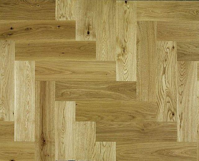 Natural Oak 280mm Herringbone Parquet Block