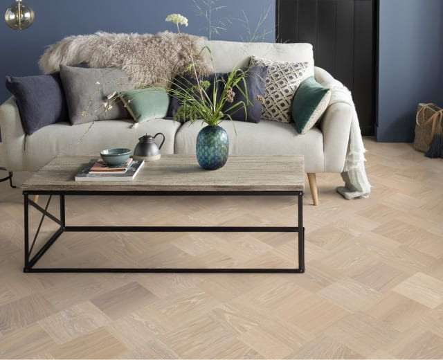 Paris Stained Oak Grande Cube Block Parquet Flooring