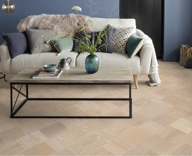 Paris Stained Oak Grande Cube Block Parquet Flooring
