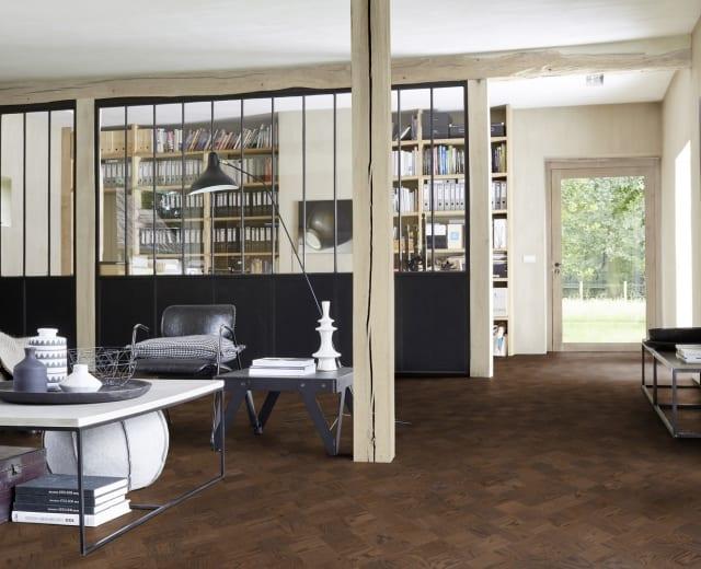 Berlin Stained Oak Small Cube Block Parquet Flooring