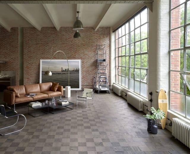 Madrid Stained Oak Grande Cube Block Parquet Flooring