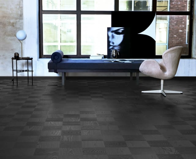 Milan Stained Oak Grande Cube Block Parquet Flooring