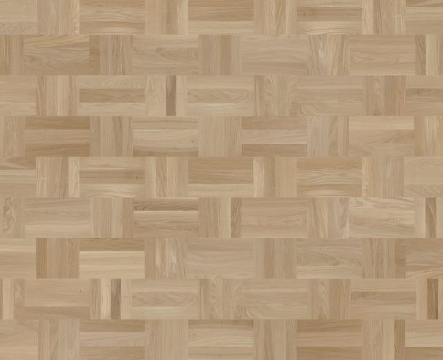 Dansk Stained Oak Drie-Vier Dutch Weave- Parquet Flooring
