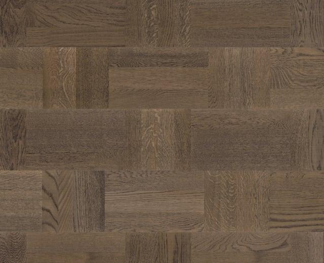 Bavarian Stained Oak Drie-Vier Dutch Weave- Parquet Flooring