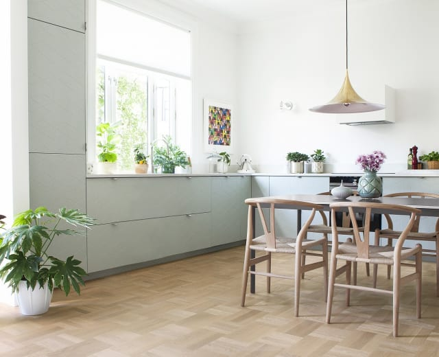 Nordic Stained Oak Drie-Vier Dutch Weave- Parquet Flooring