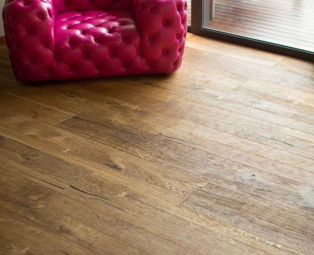 Westminster Oak Smoked Oiled Heavy Distressed Brushed 290mm Hardwood Flooring