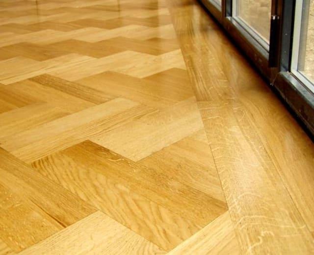 Herringbone 280mm Oak Herringbone Engineered Unfinished Parquet Flooring
