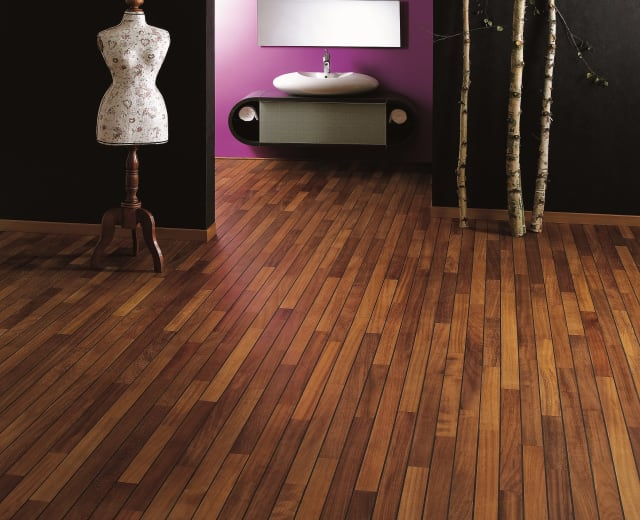 Iroko Navylam+ Parquet Bathroom Wood Flooring