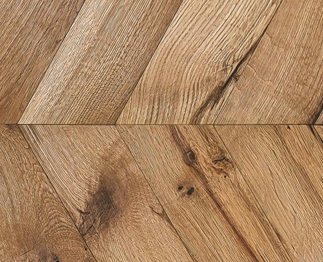 Limehouse Oak Natural Oiled Reclaimed Chevron Engineered Hardwood Flooring
