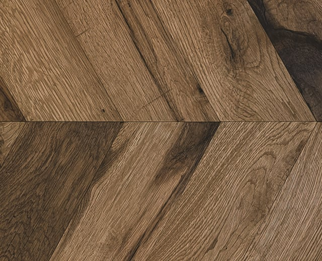 Pimlico Smoked Oak Natural Oiled Reclaimed Chevron Engineered Hardwood Flooring