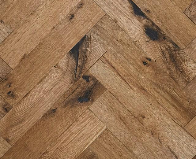 Limehouse Oak Natural Oiled Reclaimed Herringbone Engineered Hardwood Flooring