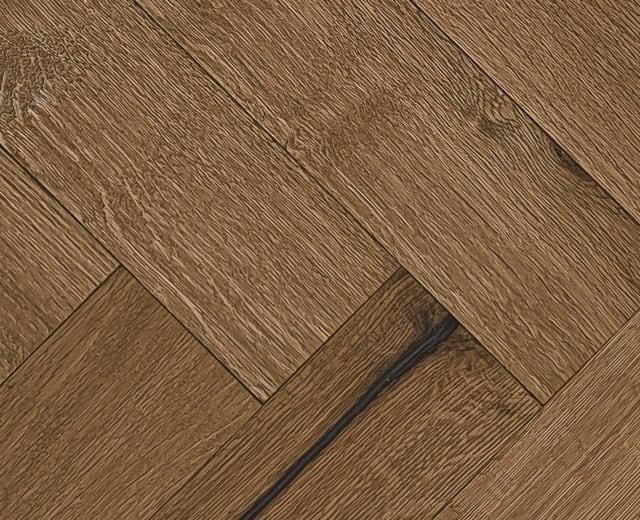 Pimlico Smoked Oak Natural Oiled Reclaimed Herringbone Engineered Hardwood Flooring