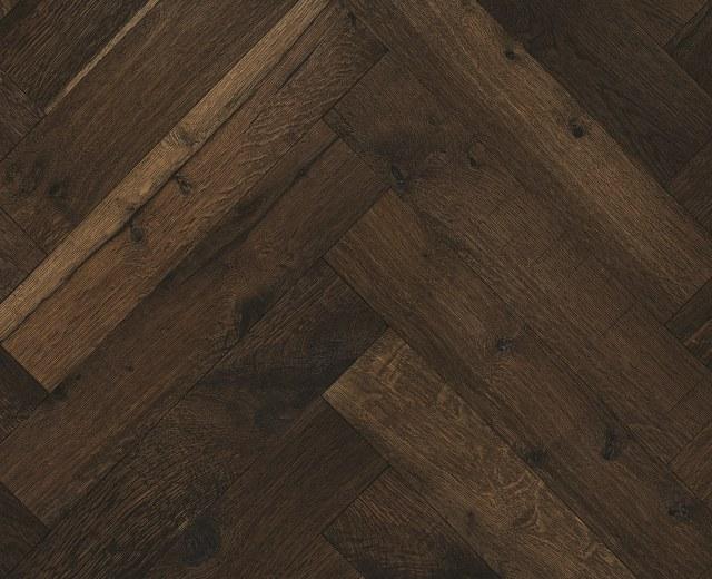 Whitechapel Heavy Smoked Oak Natural Oiled Reclaimed Herringbone Engineered Hardwood Flooring
