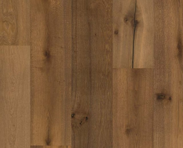 Malmo Castle Stained Brushed Oiled Smoked Oak 305mm Engineered Hardwood Flooring