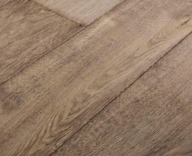 Ozark Forest Burnt and Stained Oak Brushed Multi-Width Engineered Hardwood Flooring