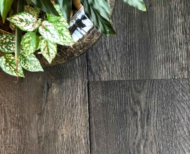 Eldorado Forest Burnt and Stained Oak Brushed Multi-Width Engineered Hardwood Flooring