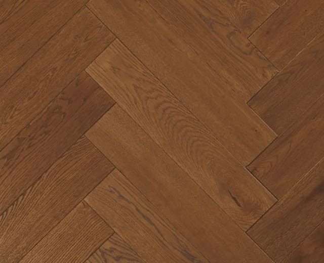 York-Minster Oak Brushed Oiled Herringbone Parquet Hardwood Floor