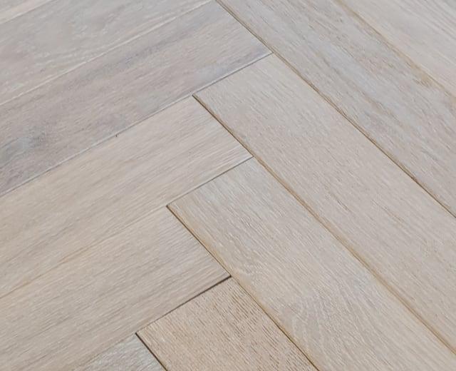 Winchester Oak Brushed Oiled Herringbone Parquet Hardwood Floor