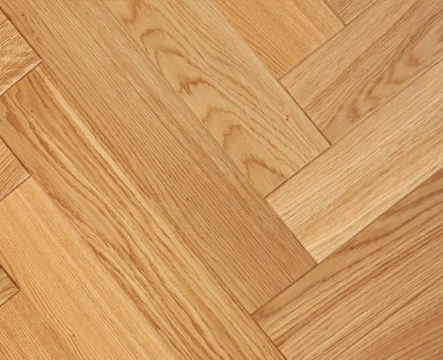 Salisbury Oak Brushed Lacquered Herringbone Parquet Hardwood Floor