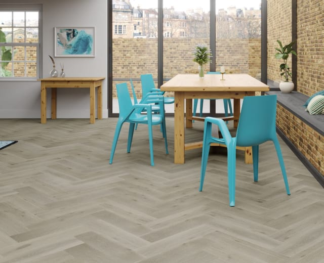 Canterbury Oak Brushed Oiled Herringbone Parquet Hardwood Floor