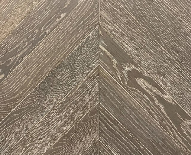 Treviso Stained Oak Brushed UV Oiled Chevron Parquet Flooring