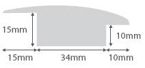 Maple Wood to Carpet Profile Soild Hardwood 15mm Rebate 2.7m