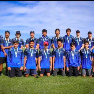 Winners of their grade - Whanganui U18 Boys Touch team.