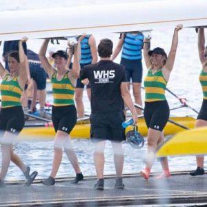 The WHS rowers at Lake Karapiro.