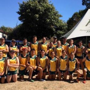 The WHS touch teams in Palmerston North.