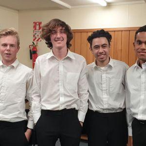 'Guitarsafire' - Jack Fawthorpe, David Dale, Joshua Korewha and Matavesi Lewenilovo.
