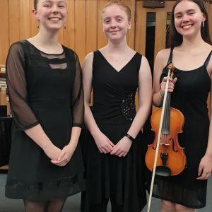 'The Tenuto Trio' - Olivia Bedwell, Alyssa Hartley and Jessie O'Connor.