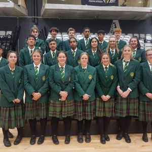 The boys and girls WHS volleyball teams faced some tough games at the National Secondary Schools champs in Palmerston North. Photo / Supplied.
