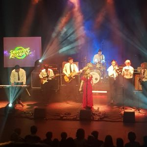 Winners, Jansen and the AMPS, performing at the Royal Wanganui Opera House.