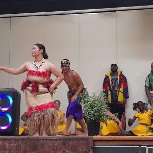 End of the Samoan dance (photo taken Fiafia night).