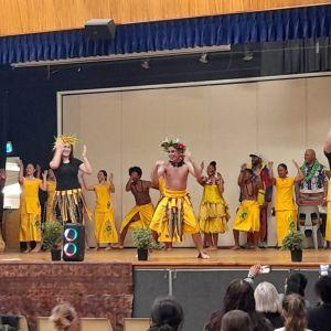 Tokelau dance (photo taken Fiafia night).