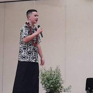 Isaac Kosena-Newman- English Speech (photo taken Fiafia night).